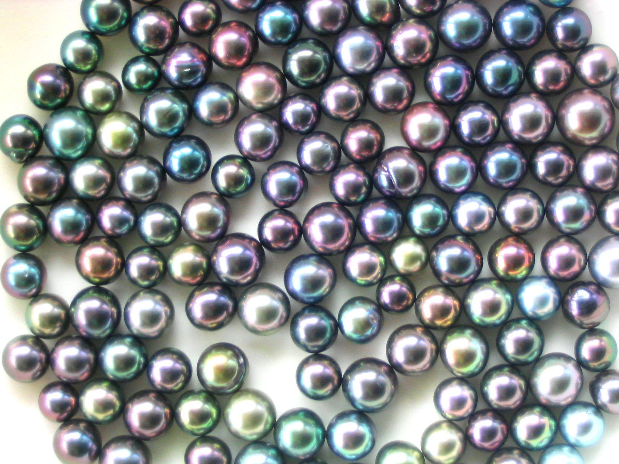 La palette de couleurs des perles de Tahiti est extraordinaire. Crédit DRMM