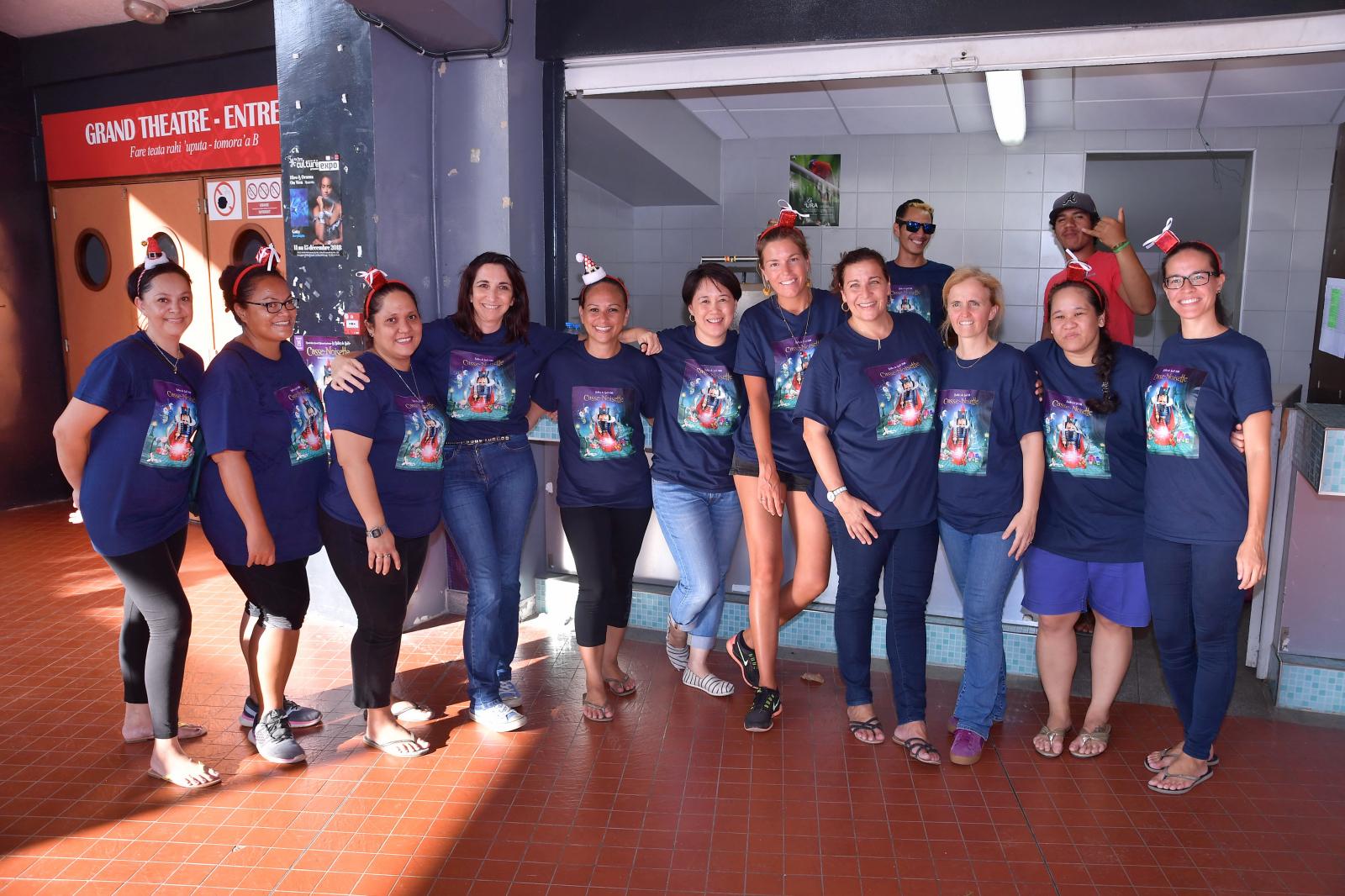 Les membres de l'association Tamarii Mananui: une équipe de vahine dynamique!