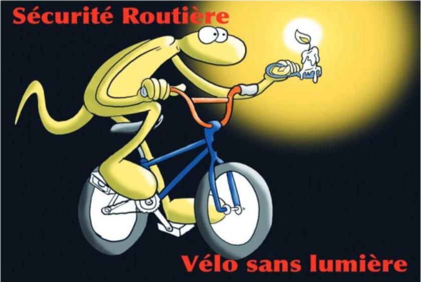 """"""" Eclairage de vélo """" vu par Munoz"""