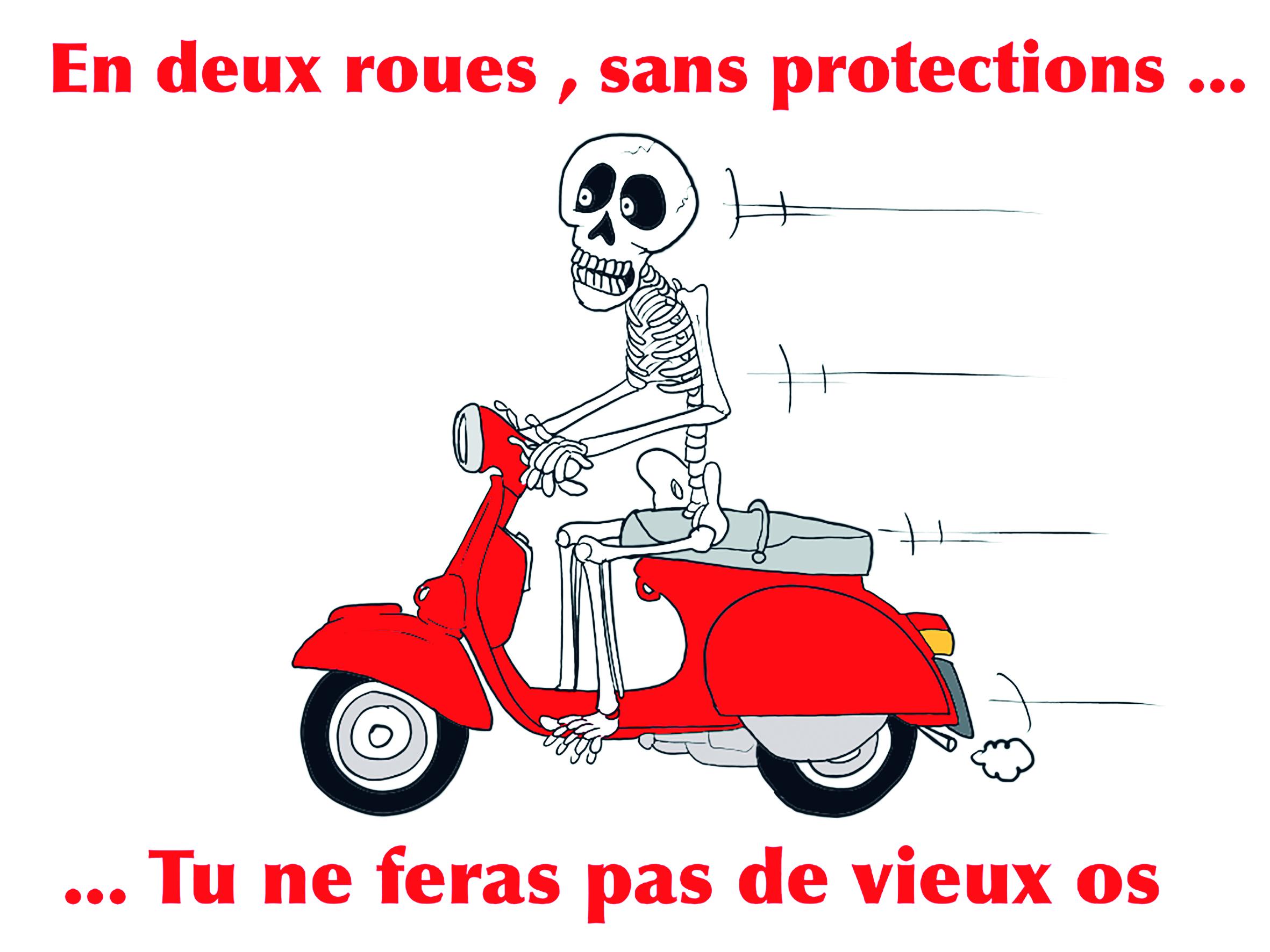 """"""" Prévention : Deux roues, protégez-vous"""" par Munoz"""