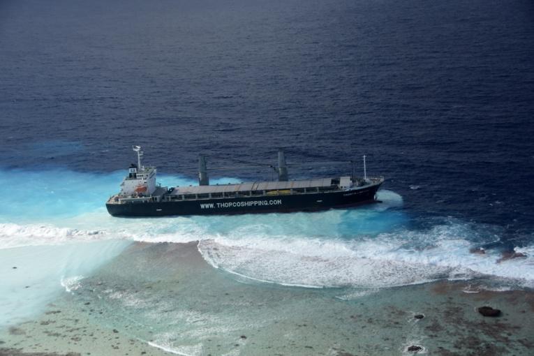 Le cargo mesure 132 mètres de long.