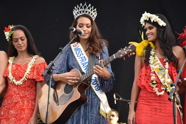 Miss France 2019 a chanté sur la scène de Paofai (vidéo)