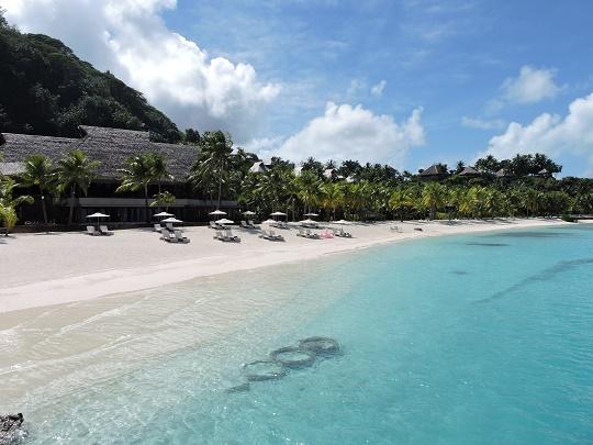 Fin de grève à l'hôtel Conrad de Bora Bora