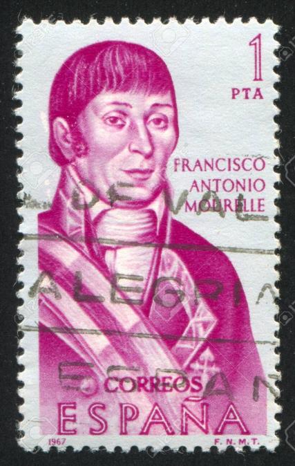 L'Espagne a rendu hommage à l'explorateur et navigateur Mourelle à travers un timbre, mais c'est surtout pour ses exploits militaires qu'il est connu dans son pays.