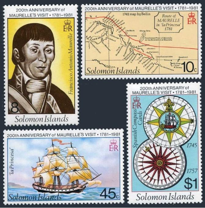 En 1981, les îles Salomon ont salué avec panache le 200e anniversaire du passage de Mourelle de la Rua dans leur archipel ; c'était en 1781.