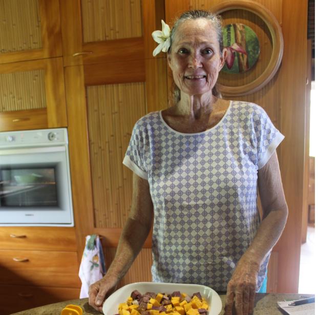 Maeva Shelton nous a préparé un festin pour le réveillon.