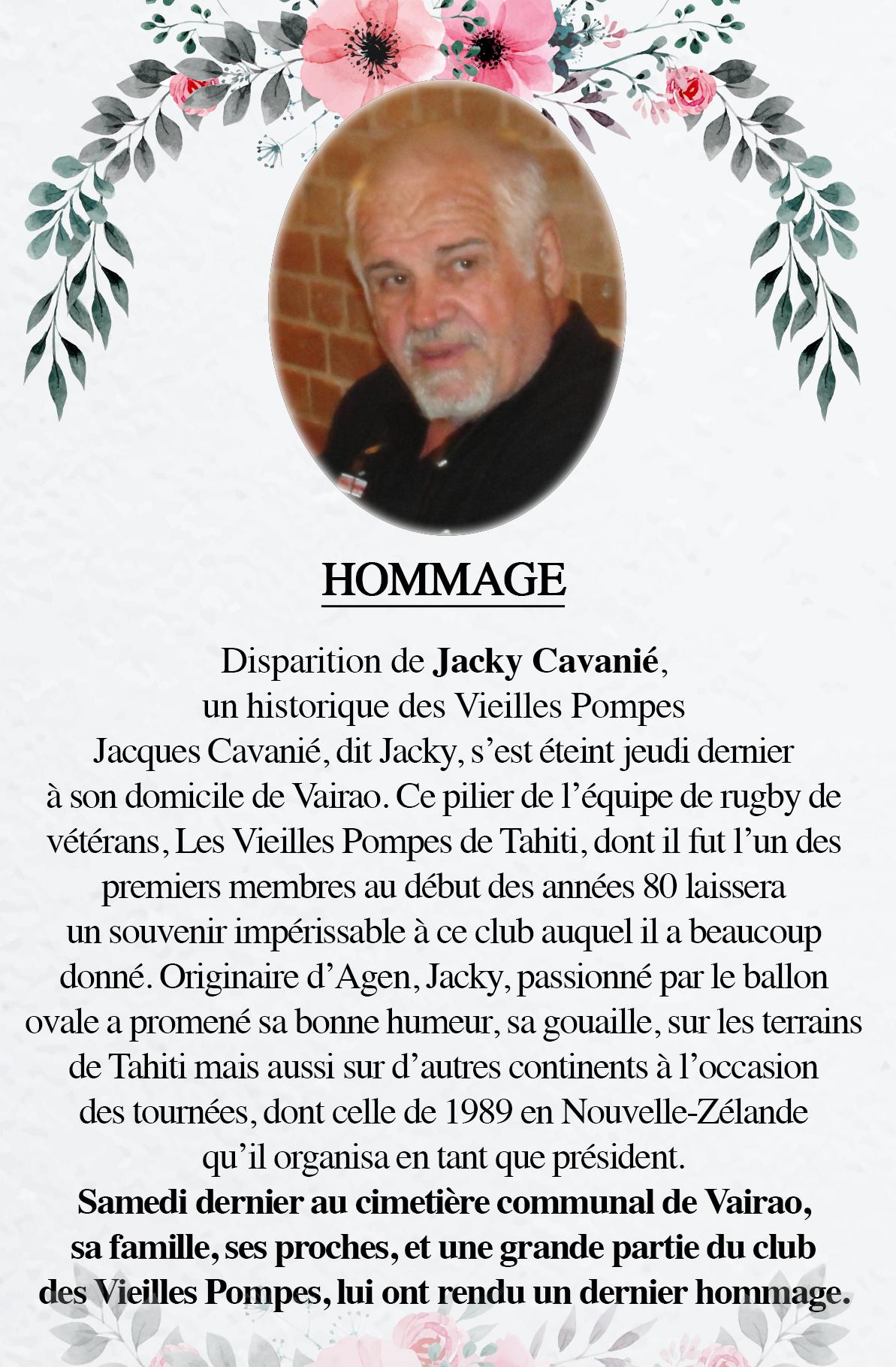 Disparition de Jacky Cavanié, un historique des Vieilles Pompes