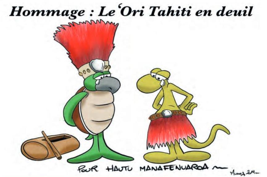""" Hommage à Hautu Manafenuaroa "" par Munoz"