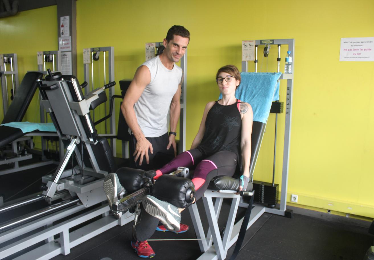Aurélien Deshayes est coach sportif au Vaima Fitness Club.