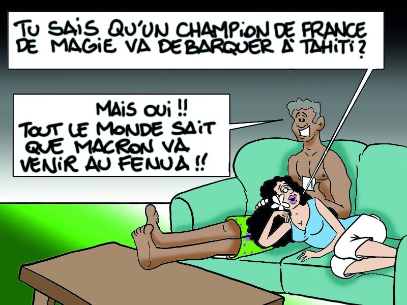 """"""" Le champion de France de magie débarque à Tahiti ! """" par Munoz"""