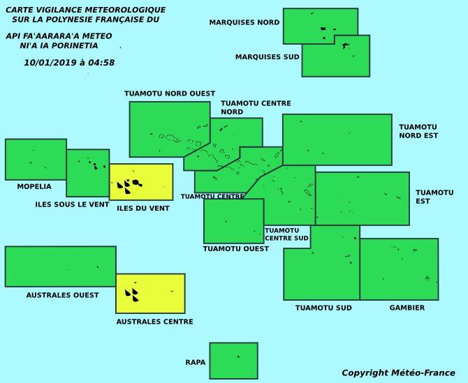Les fortes pluies persistent sur les îles du vent et le centre des Australes