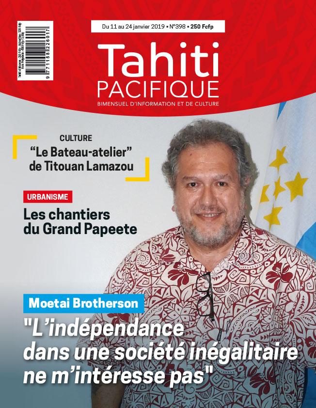 À la Une de Tahiti Pacifique, vendredi 11 janvier