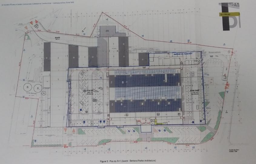 Le projet prévoit 3 987 m2 d'extension.