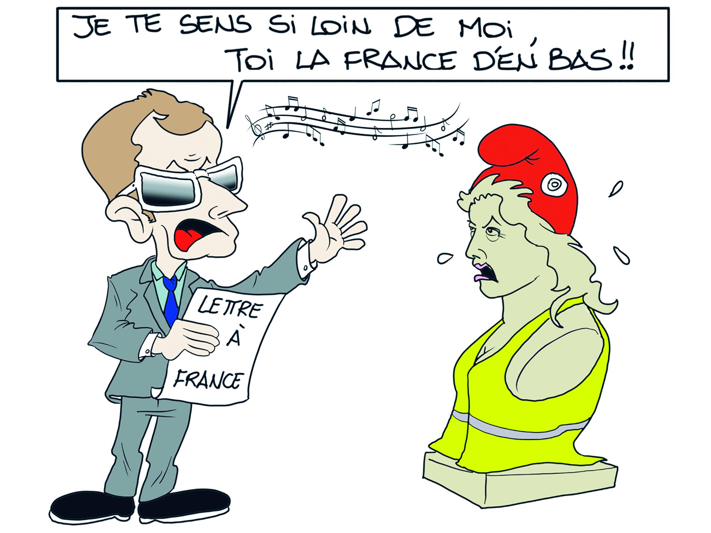 """"""" La lettre de Macron aux Français """" par Munoz"""