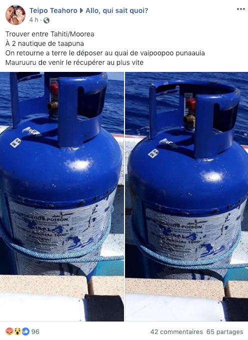 Bonbonnes de gaz à la dérive: ne pas toucher!