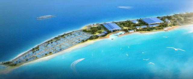 La ferme aquacole devrait s'étendre sur 33 hectares.