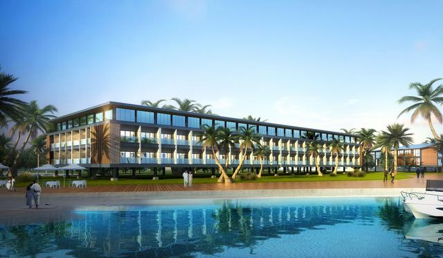 Le bâtiment qui accueillera les appartements des cadres.