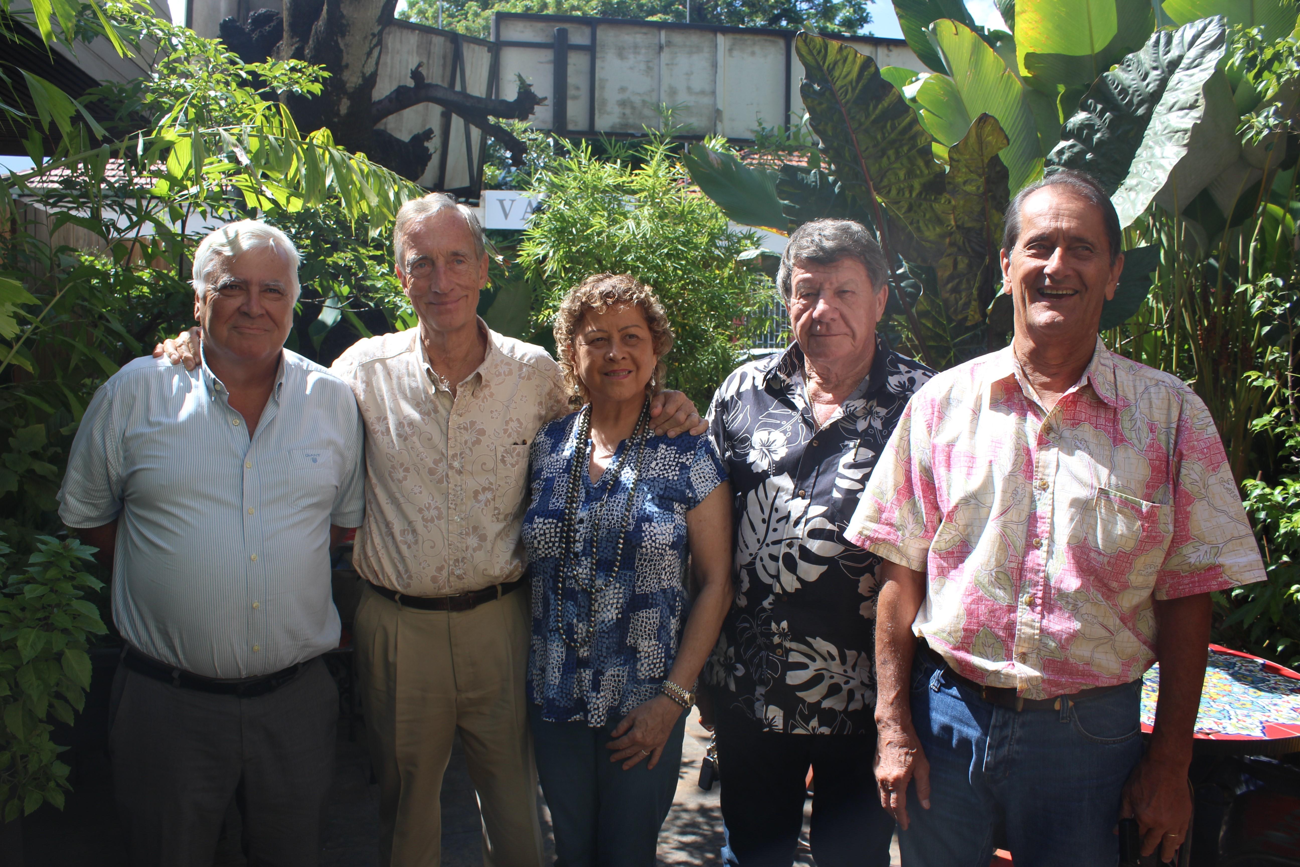 De gauche à droite : Me François Quinquis, Michel Paoletti, Aline Baldassari, Daniel Palacz et Joël Allain.