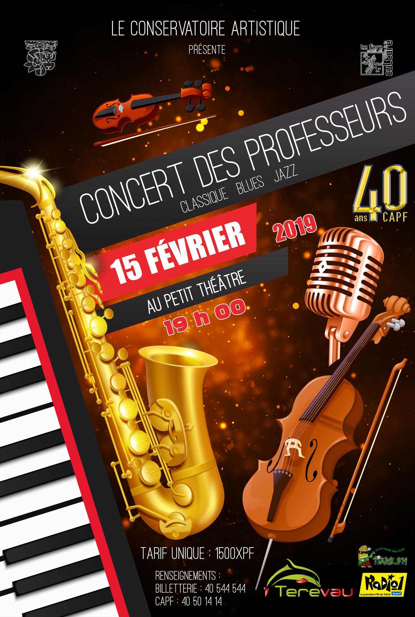 Les professeurs de musique du conservatoire sur scène le 15 février