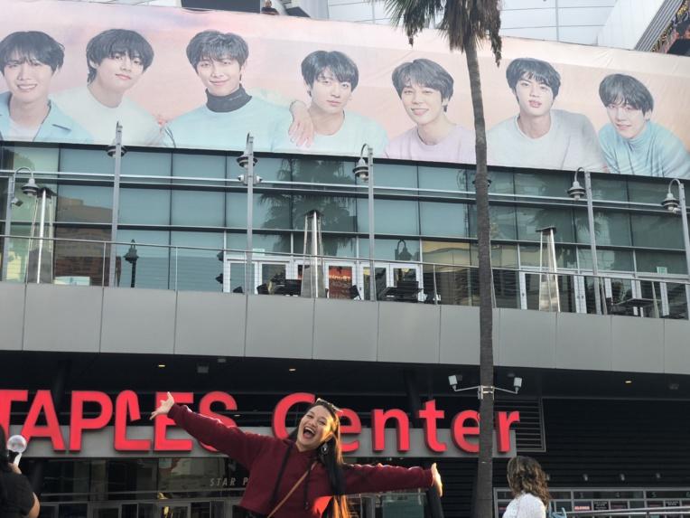 Evaina a assisté au concert des BTS en septembre 2018 à Los Angeles.