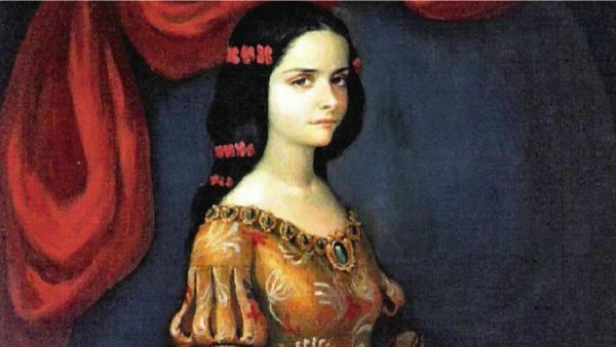 Un portrait présumé de doña Isabel de Barreto, première amirale d'une flotte espagnole dans l'océan Pacifique.