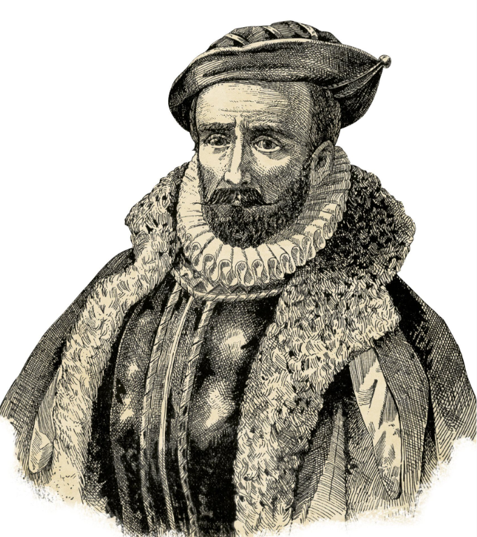 Alvaro de Mendaña y Neyra fut le premier mari d'Isabel ; c'est lui qui l'emmena jusqu'aux îles Salomon où elle lui succéda après son décès.
