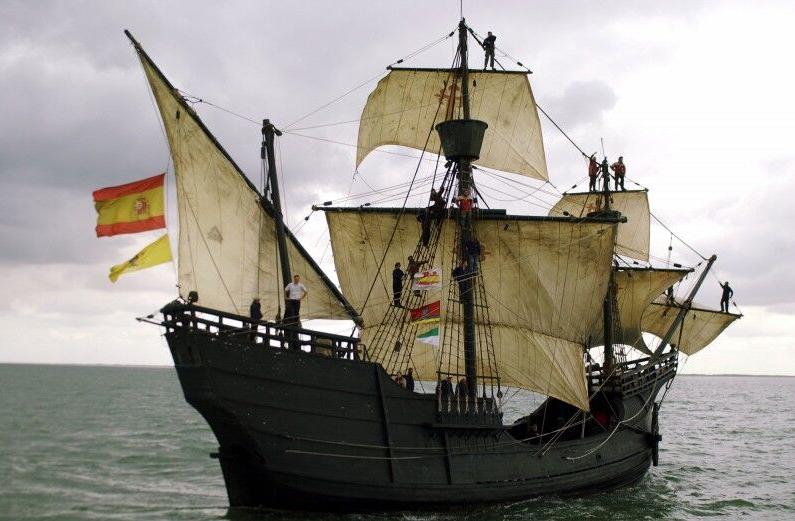 Ce navire est une nao, identique à celle sur laquelle doña Isabel de Barreto vécut son odyssée dans le Pacifique.