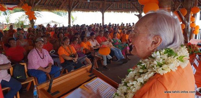 """""""Nous avons échoué"""", dans son discours, Gaston Flosse a reconnu son échec lors des dernières territoriales. Le parti se prépare désormais pour les prochaines échéances électorales."""