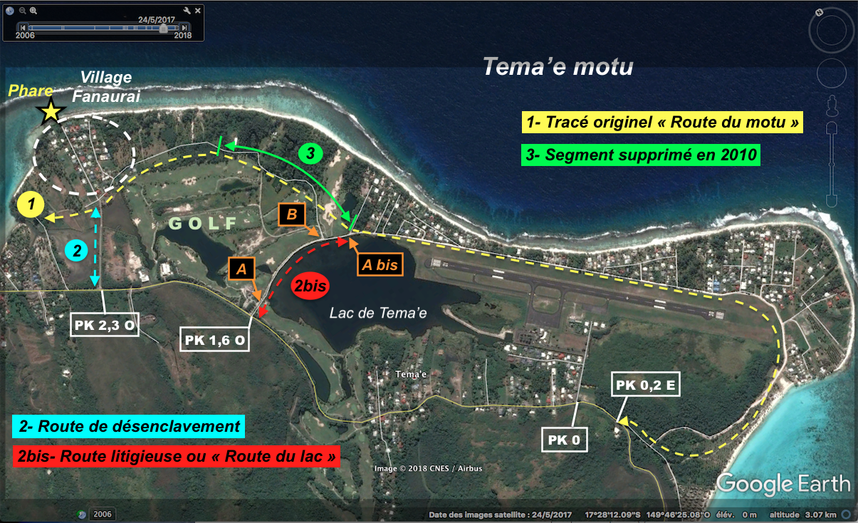 Les habitants de Tema'e veulent l'ouverture d'un accès par le golf