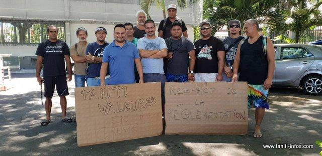 Les grévistes de Tahiti Valeurs ont rencontré ce mardi, le directeur de cabinet du haut-commisssaire.