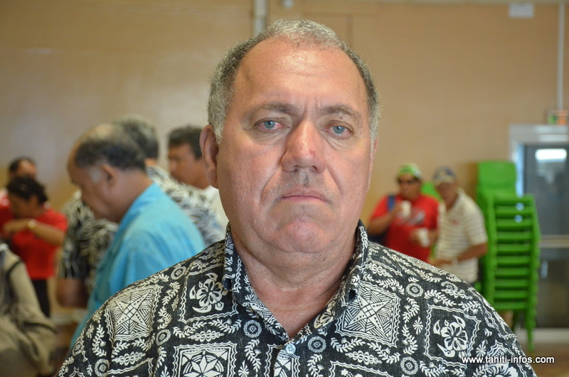 Yannick Lowgreen, président de l'association Tamarii Moruroa.