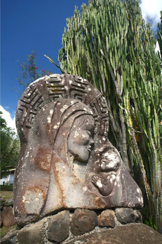 La cathédrale est consacrée à la Vierge Marie.