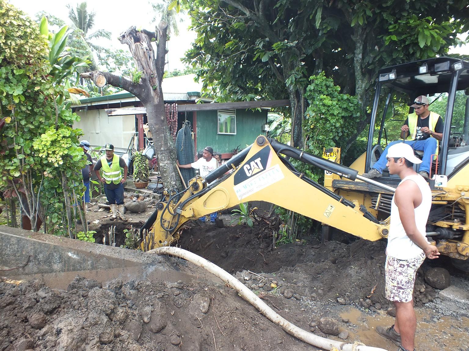 Les travaux démarreront lundi matin, dans le quartier Titaaviri, à Papeari.