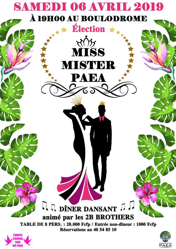 Les écharpes de Miss et Mister Paea de nouveau en jeu