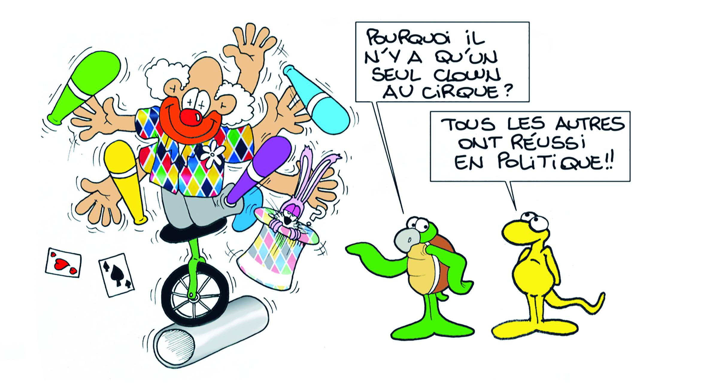 """"""" La politique et le cirque """" par Munoz"""