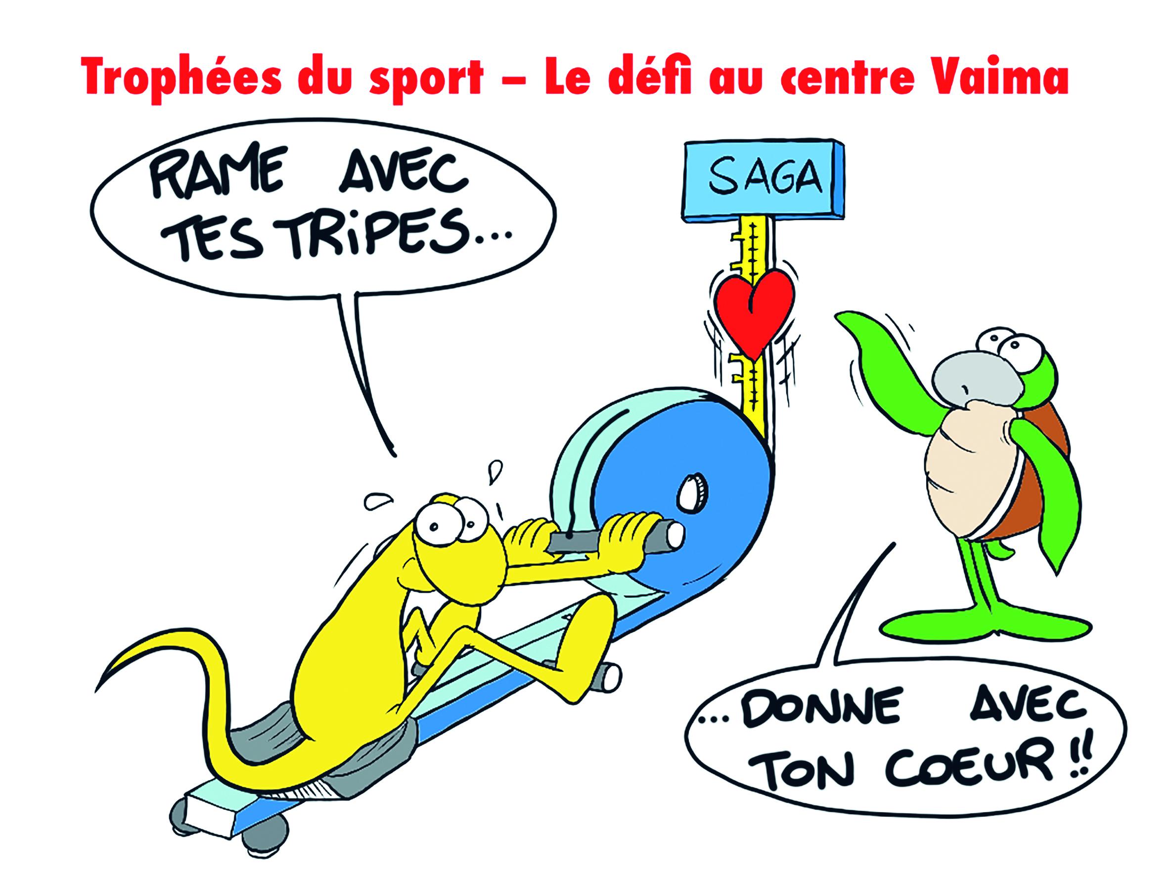 """"""" Trophées du sport : Défi rame avec ton coeur """" par Munoz"""