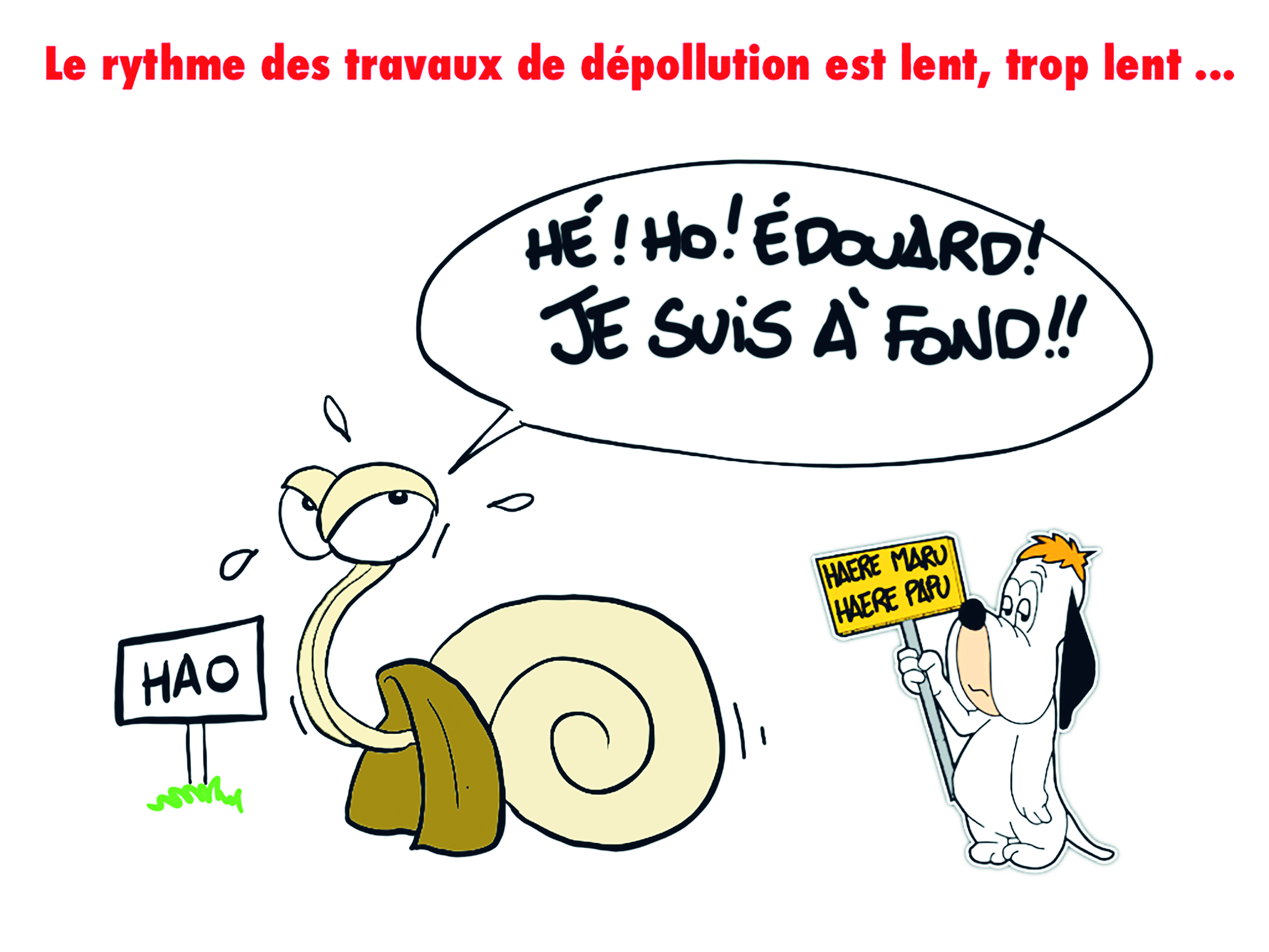 """"""" Hao : Le rythme des travaux de dépollution trop lent """" par Munoz"""