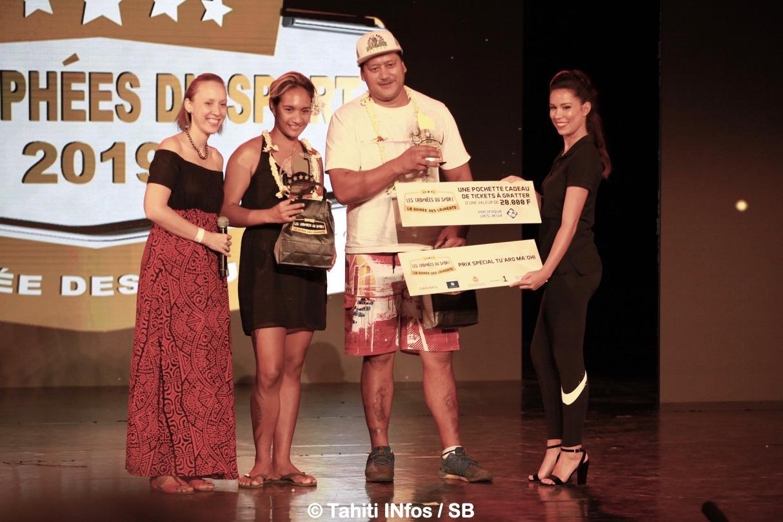 Vaiarava Roopinia, Eriatara Ratia lauréats des sports traditionnels
