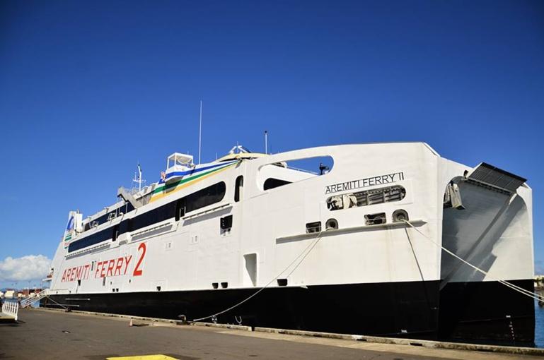 Le mauvais temps a perturbé les rotations de l'Aremiti Ferry dimanche