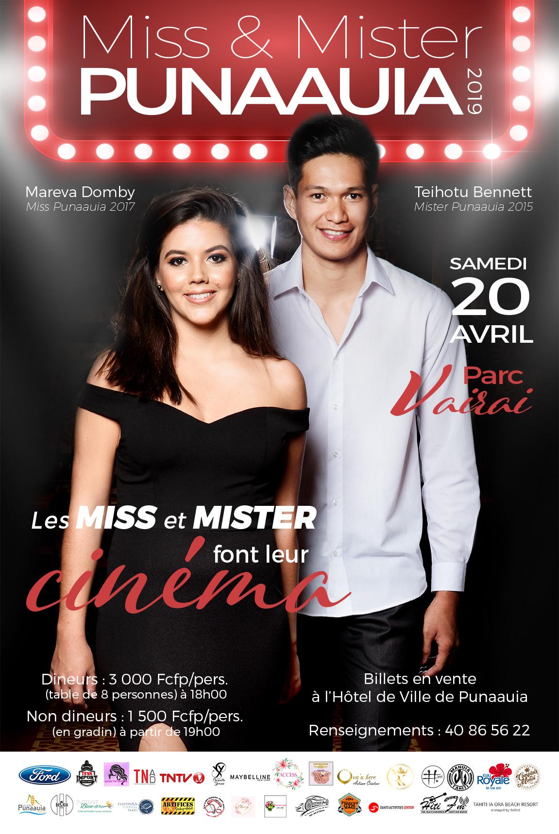 Les candidats de Miss et Mister Punaauia en stars de cinéma