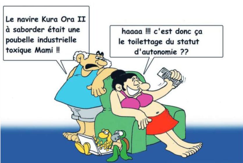 """ Le sabordage du navire Kura Ora II "" vu par Munoz"