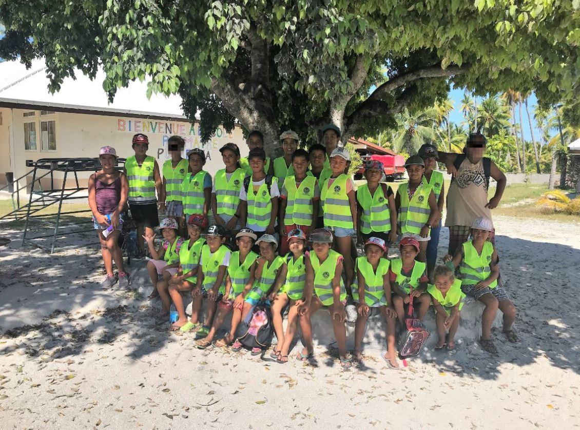 Les 27 enfants de l'école primaire ont été notamment sensibilisés à la circulation piétonne et cycliste.