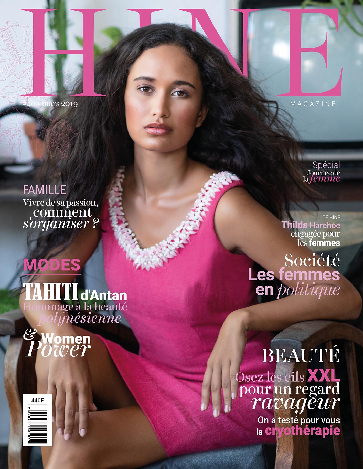 À la Une de Hine Magazine, Mars 2019