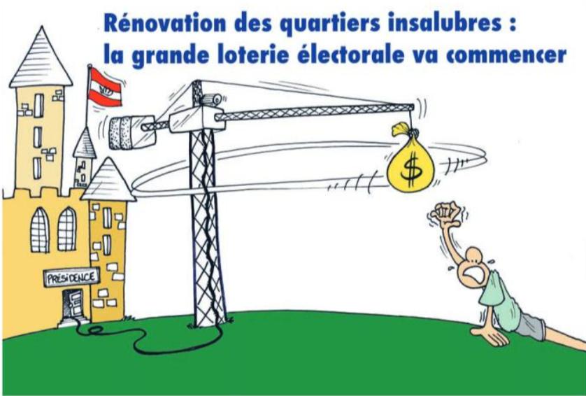 """"""" Rénovation des quartiers insalubres """" vu par Munoz"""