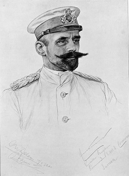 Emsmann, croqué par le dessinateur C.W. Allers. Le marin était avant tout déterminé et sa carrière fut exemplaire.