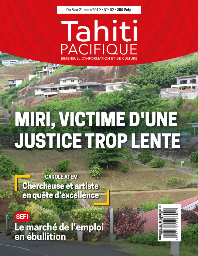 À la Une de Tahiti Pacifique, vendredi 8 mars