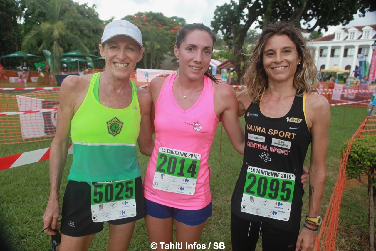 Le trio de tête, Sophie Gardon, Clémence Dede et Sophie Bouchonnet