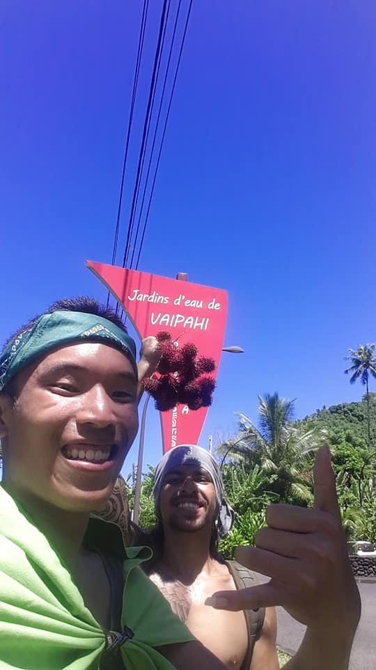 Il y a deux semaines, Jason Man Sang et Maiti Tepa ont marché 115 kilomètres pour sensibiliser les Polynésiens au réchauffement climatique.