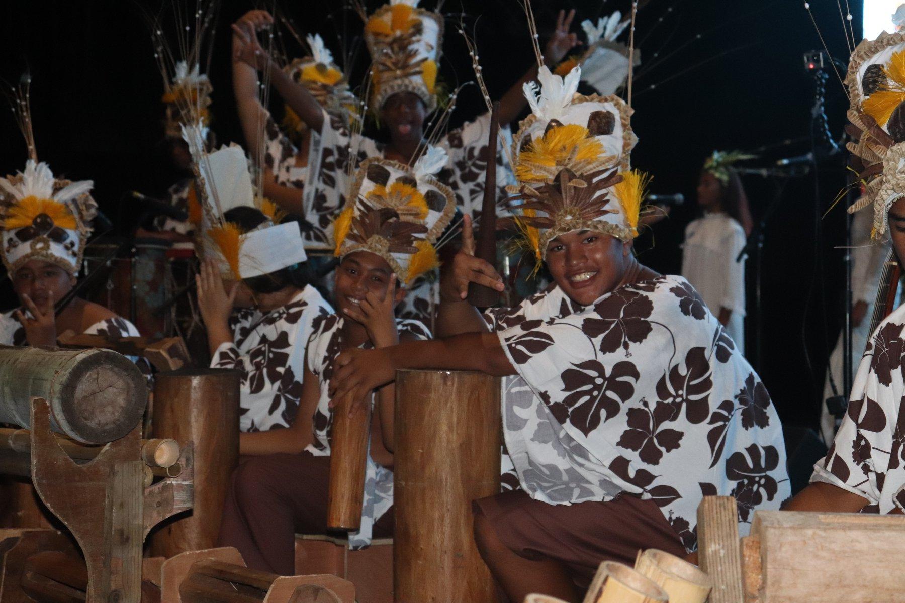 Le prix du meilleur orchestre a été attribué au collège de Afareaitu.
