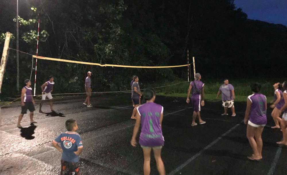 Le terrain sportif de Faaone est désormais éclairé